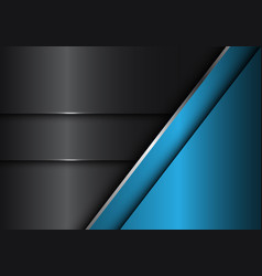 Abstract grey blue metal design modern vector