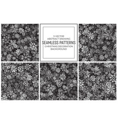 abstract snow seamless pattern vector image