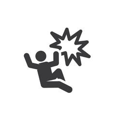 accident icon vector image