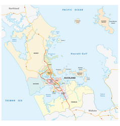Administrative and political map of auckland vector
