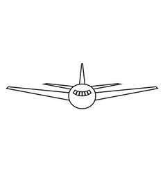 Airplane the black color icon vector