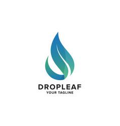 Aqua leaf logo concept design template vector