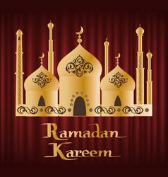 arabic festive ramadan kareem religion vector image