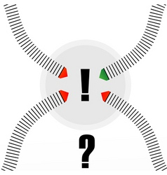 arrow with question mark vector image vector image