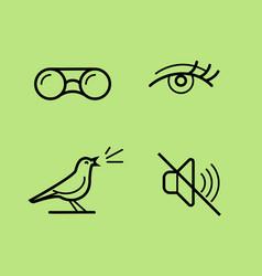 bird watch vector image
