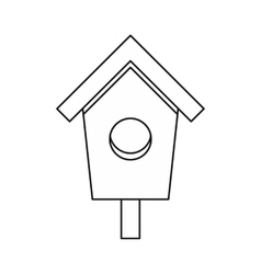 Birdhouse nesting box icon outline style vector