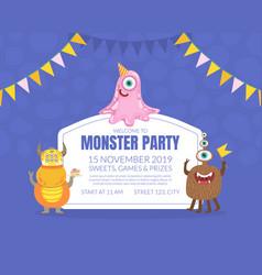 Birthday party invitation on vector