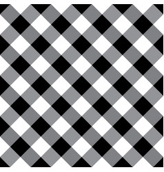 Black and white argyle tablecloth seamless patter vector