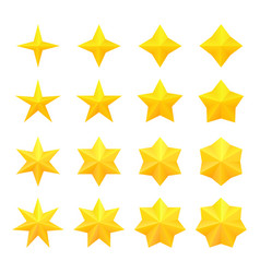 Bright stars collection vector