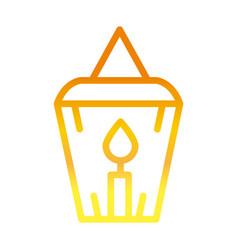 Burning candle ramadan arabic islamic celebration vector