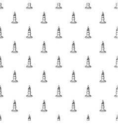 burnt candle pattern seamless vector image