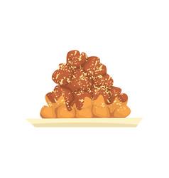 cake sweet dessert cartoon vector image vector image