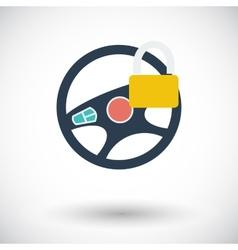 Car Steering Wheel flat icon vector image