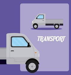Cargo truck transport vehicle vector