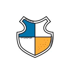 cartoon shield doodle theme vector image