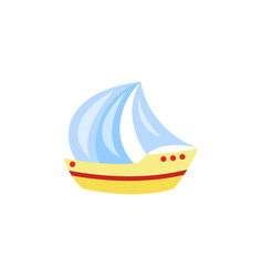 cartoon travelling sailboat sailing yacht vector image