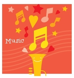 Children creativity and musicality development vector image