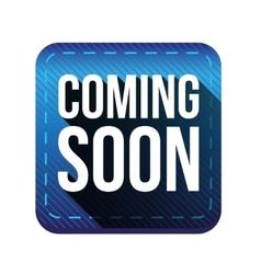 Coming soon button blue vector
