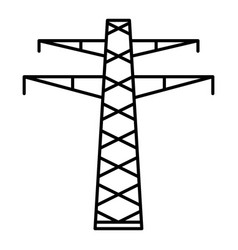 communication electric tower icon outline style vector image
