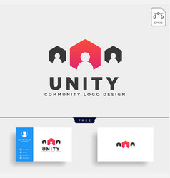 community human logo template icon element vector image