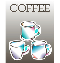 cool coffee poster template vector image