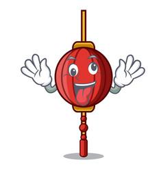 Crazy chinese lantern mascot cartoon vector