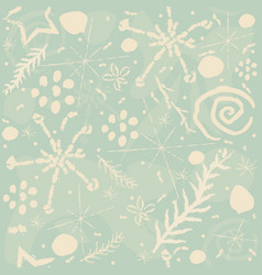 cute hand drawn seamless pattern vector image