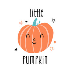 cute pumpkin for poster card banner vector image