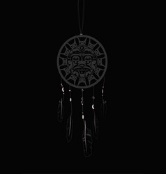 Dream catcher with indigenous pattern vector