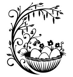 Easter eggs spring vector