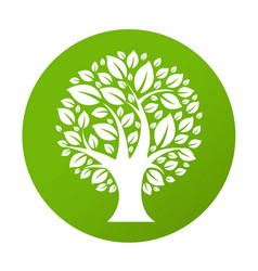Eco tree symbol vector