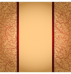 Elegant gold background vector image