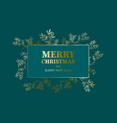 elegant merry christmas and new year card vector image