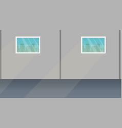 empty room interior vector image