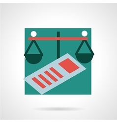 Finance flat icon vector image