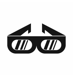 Glasses for 3D movie icon simple style vector image