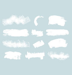 grunge brush stroke collection vector image