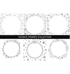 Hand drawn frames collection vector
