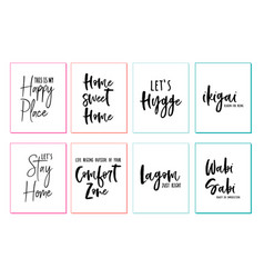 Home wall art prints set home wall art prints vector