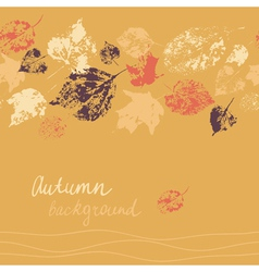 Horizontal seamless autumn background vector image