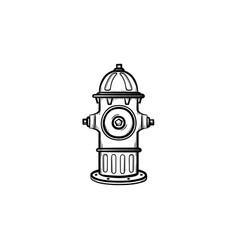 hydrant hand drawn sketch icon vector image