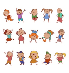 Icons of children vector