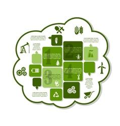 Industrial infographics design vector