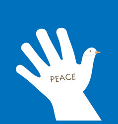 international peace day with hand making the form vector image