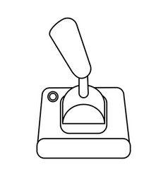 Joystick videogames related icon image vector