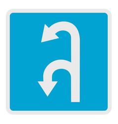 left turn arrow icon flat style vector image