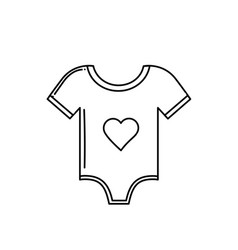 Line baby clothes that used to sleep vector