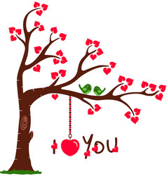 Love Tree with I Love You vector