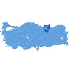 Map of Turkey Giresun vector