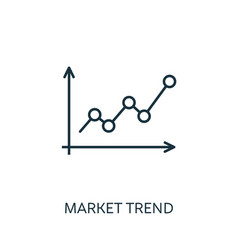 Market trend outline icon thin line concept vector